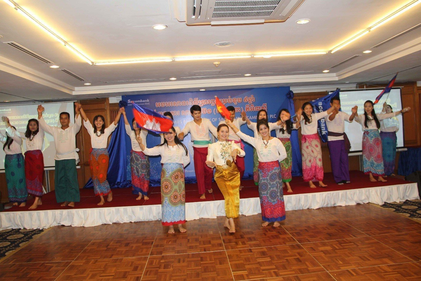 Dancing performance of SC staff in the ceremony