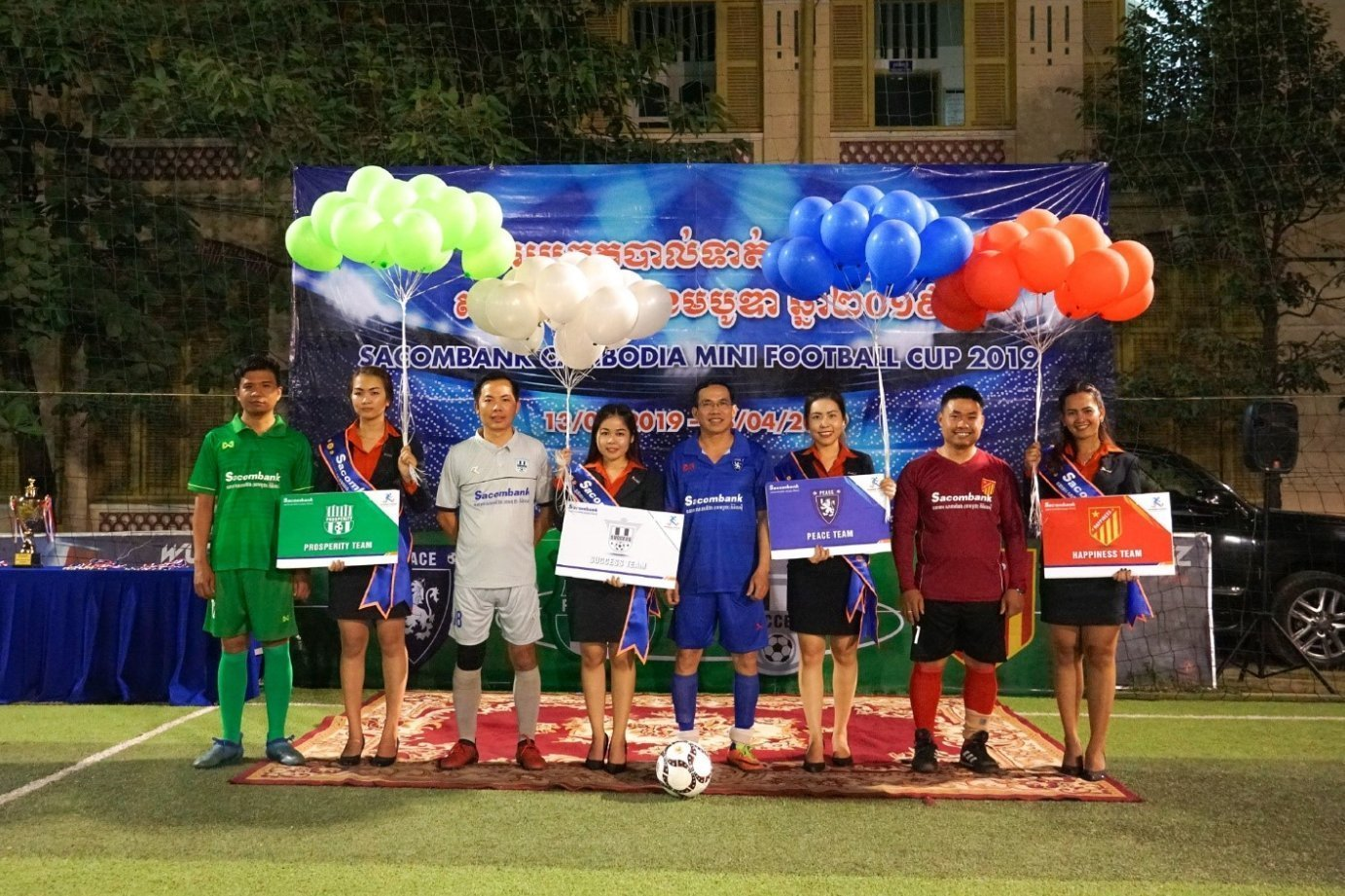 The performance of the staff of Sacombank Cambodia in the Opening Ceremony