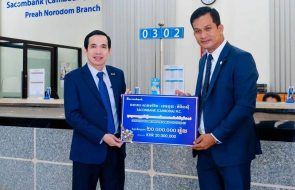 Sacombank (Cambodia) Plc. has donated KHR 20,000,000 to prevent the spread of COVID-19