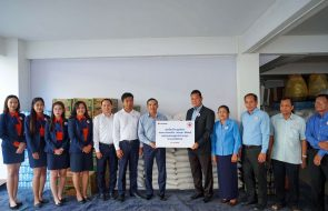 Sacombank Cambodia donated for flood victims via Cambodian Red Cross
