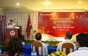 "SACOMBANK CAMBODIA SHARES LOVE THROUGH THE CHARITY PROGRAM ""AM TINH MUA XUAN"""